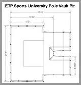 ETP University pole vault pit