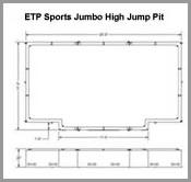 ETP Jumbo High Jump Pit