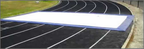 Running track protective cover