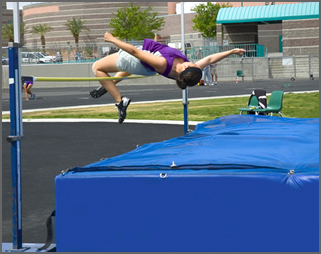 high jump cover and pits